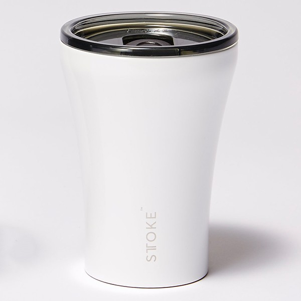 [ストーク]コーヒー保温カップ(236mL) リュクスブラック 日用雑貨 エンジェルホワイト