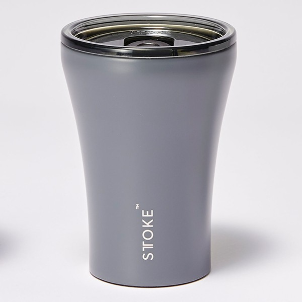 [ストーク]コーヒー保温カップ(236mL) リュクスブラック 日用雑貨 スレートグレー