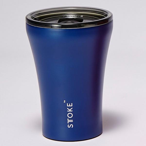 [ストーク]コーヒー保温カップ(236mL) リュクスブラック 日用雑貨 マグネティックブルー