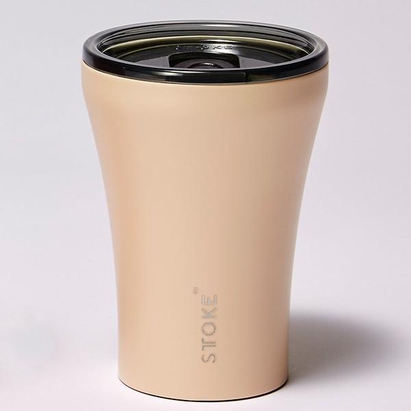 [ストーク]コーヒー保温カップ(236mL) リュクスブラック 日用雑貨 アイボリーチャイ