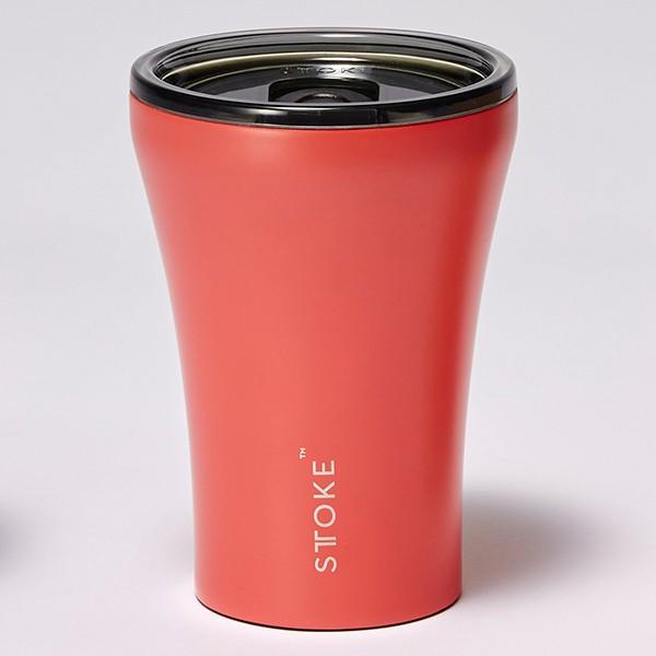[ストーク]コーヒー保温カップ(236mL) リュクスブラック 日用雑貨 コーラルサンセット