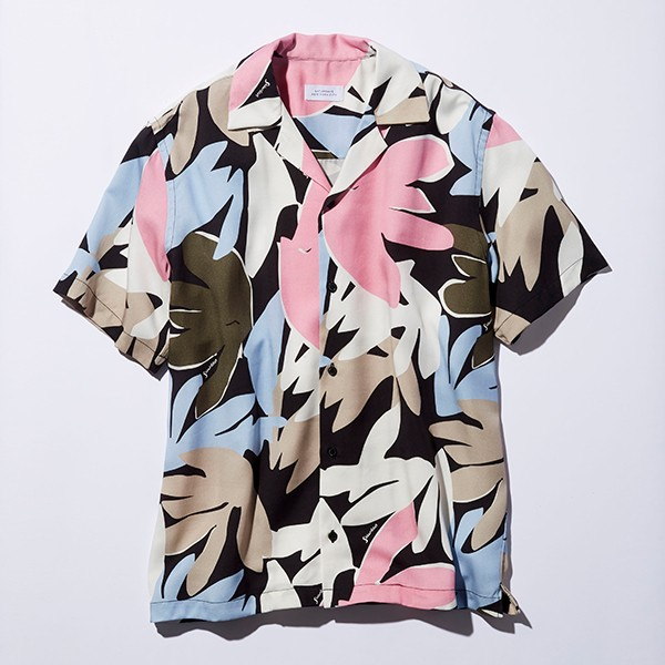 [SATURDAYS NEW YORK CITY]TAHITI PALMS PRINT SHIRT