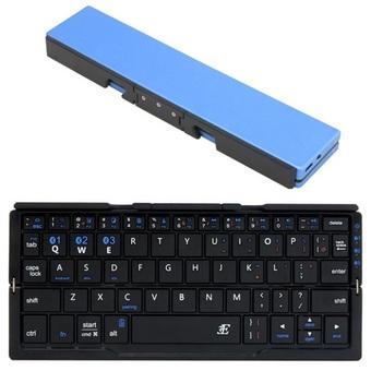 スリム&コンパクト Bluetoothキーボード「プリエ」 メタリックブルー