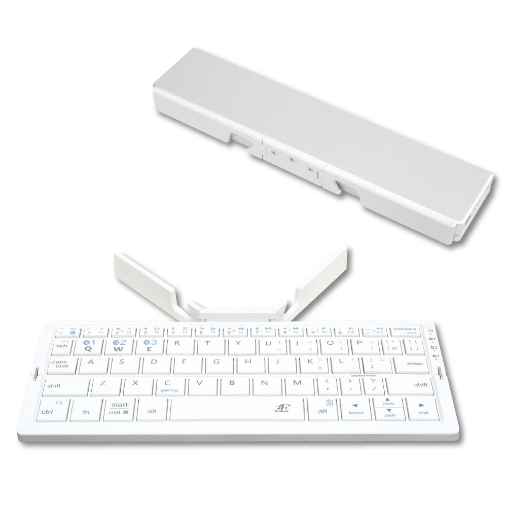 スリム&コンパクト Bluetoothキーボード「プリエ」 シルバー
