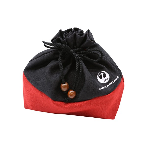 [JALオリジナル]巾着袋 ブラック 生活雑貨 ブラック