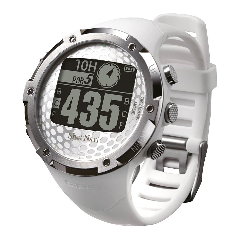 [Shot Navi]GPSゴルフナビ W1-FW ブラック メンズ 時計/アクセサリー ホワイト