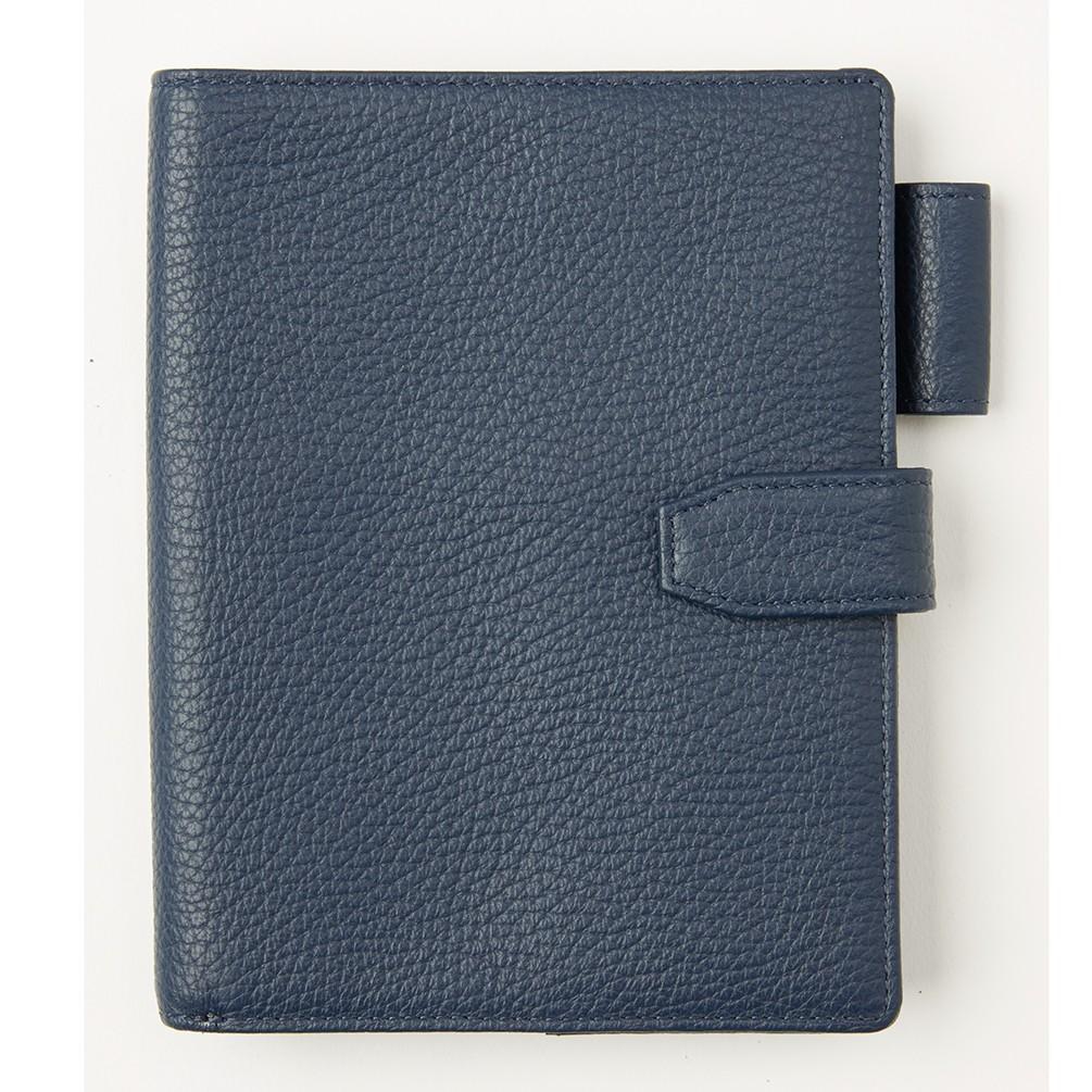 [キオッチョラ] イタリアンレザー ファミリーパスポートケース ネイビー
