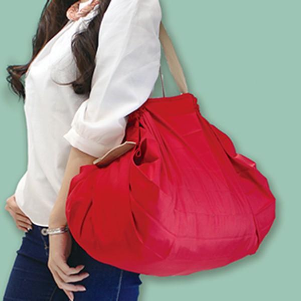 [マーナ]コンパクトバッグ「Shupatto」Lサイズ レッド