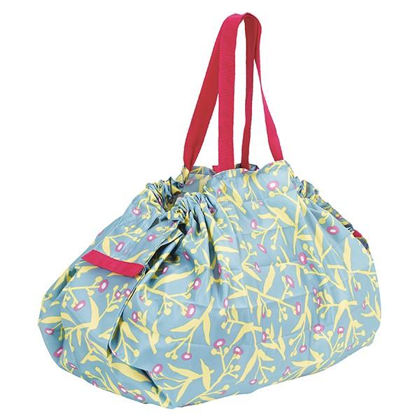 [マーナ]コンパクトバッグ「Shupatto」Lサイズ 草花