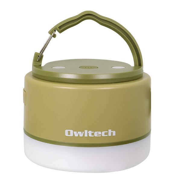 [オウルテック]大容量モバイルバッテリー搭載 LEDランタン 6700mAh(OWL-LPB6701LA) ブラック 日用雑貨 カーキ