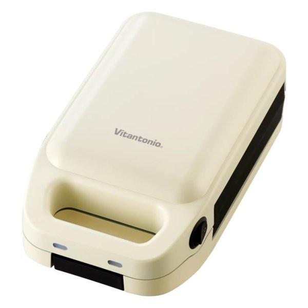 [ビタントニオ]厚焼きホットサンドベーカー トマト(レッド系) 小型家電 エッグ(ホワイト系)