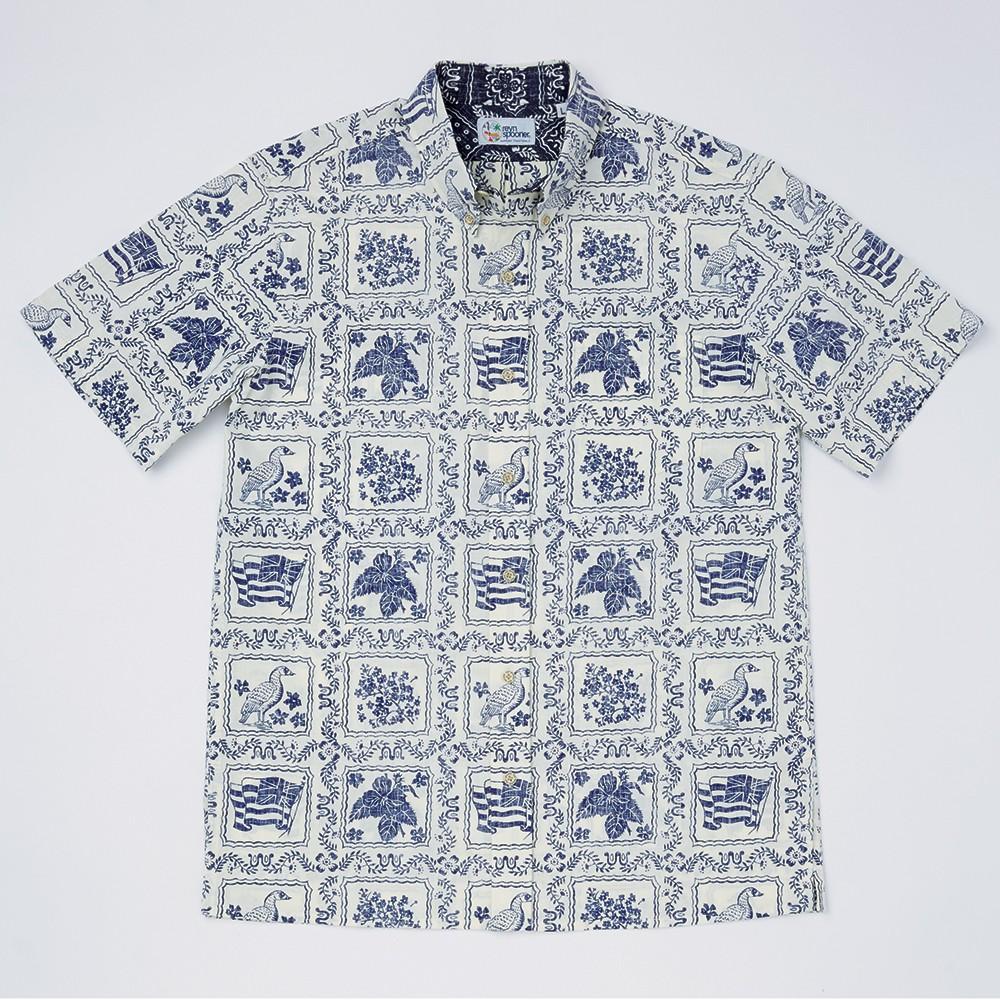 〈レインスプーナー〉オリジナル半袖ボタンダウンシャツ ナチュラル L