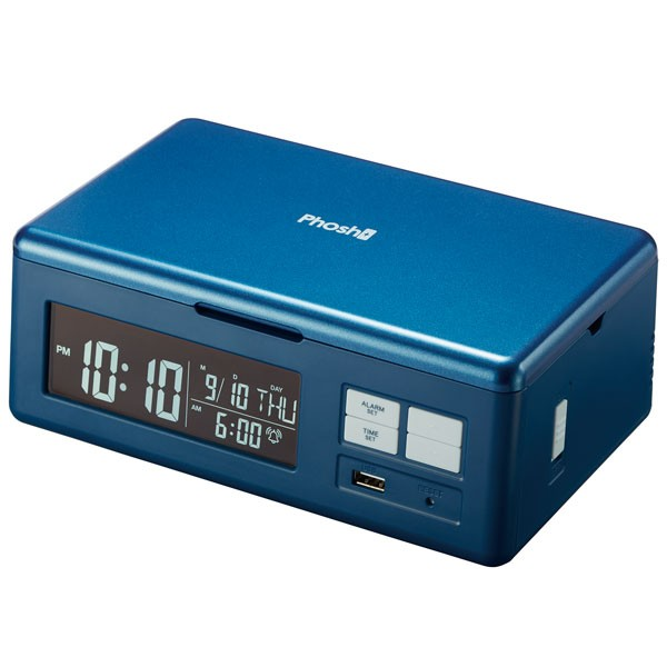 UV除菌ができるスマホ充電器「Phosh」(ワイヤレス+USB充電)