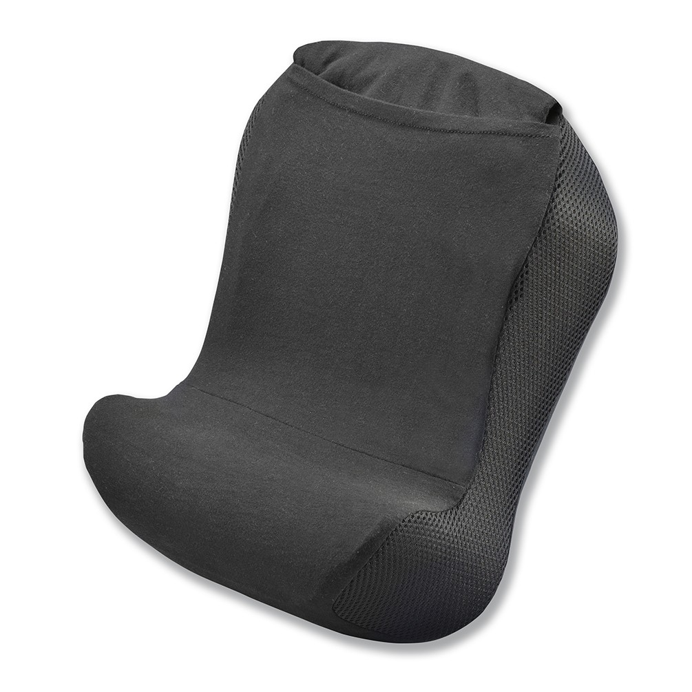 [gowell]低反発クッション 腰ラクーン ブラック