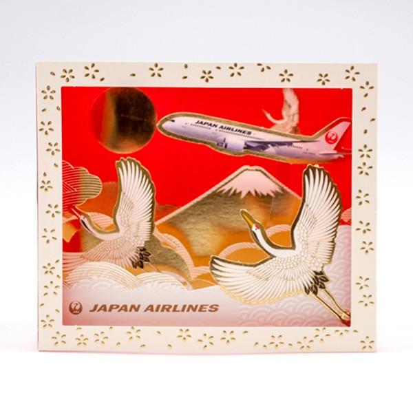 [JALオリジナル]ボックスポップアップカード 鶴