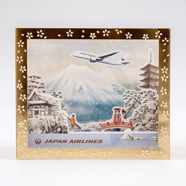 [JALオリジナル]ボックスポップアップカード 富士