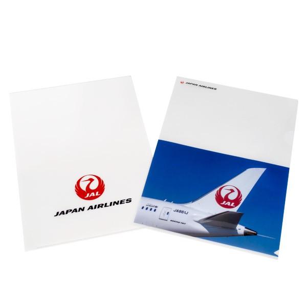 [JALオリジナル]クリアファイル2枚入り ホワイト 尾翼 生活雑貨 ホワイト 尾翼