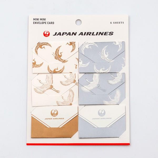 [JALオリジナル]エンベロープカード6枚入り 鶴 生活雑貨 鶴