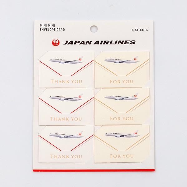[JALオリジナル]エンベロープカード6枚入り 鶴 生活雑貨 飛行機
