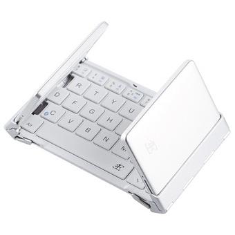 折りたたみ式Bluetoothキーボード ホワイト