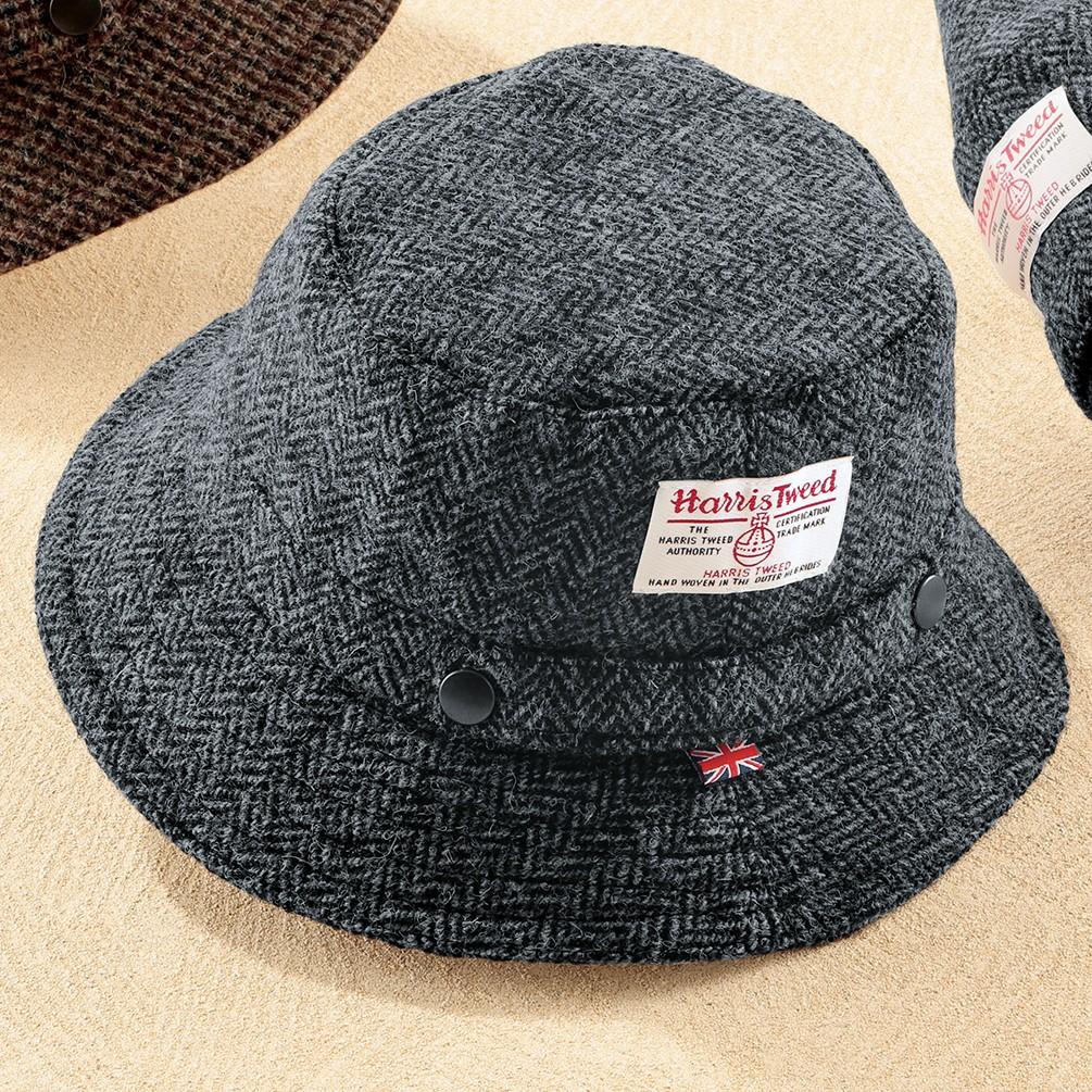英国製ハリスツイードハット グレー M メンズ ファッション雑貨 グレー M