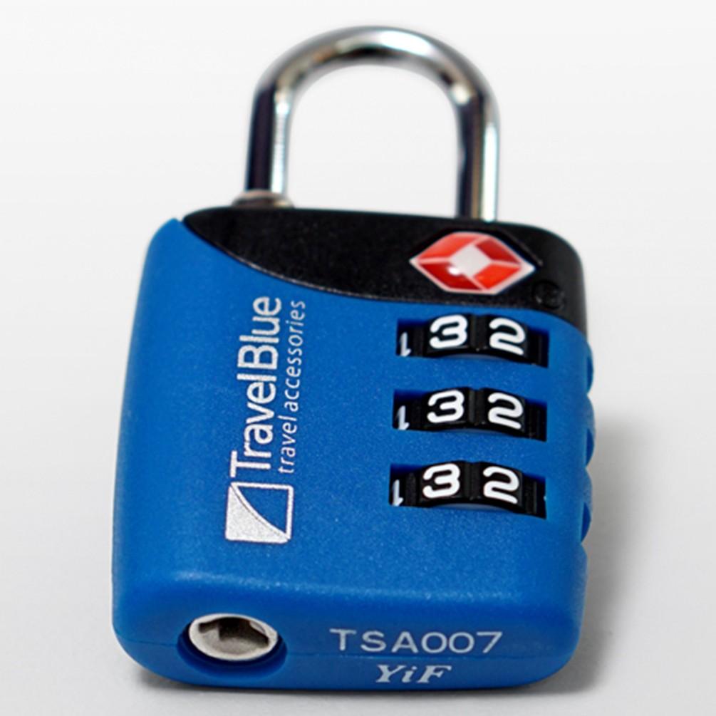 [Travel Blue]TSAロックTMコンビネーション ブルー