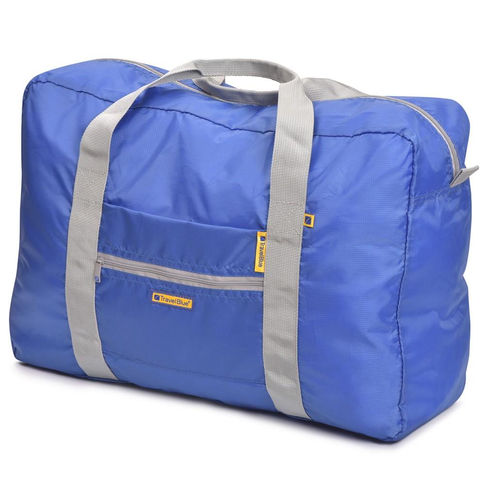 [Travel Blue]折り畳み式ボストンバック ブルー