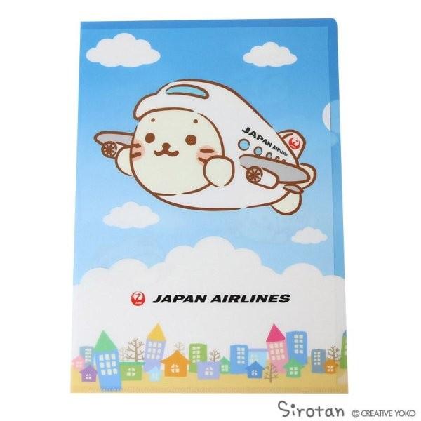 [JALオリジナル]しろたん クリアファイル 飛行機 赤 生活雑貨 飛行機 空