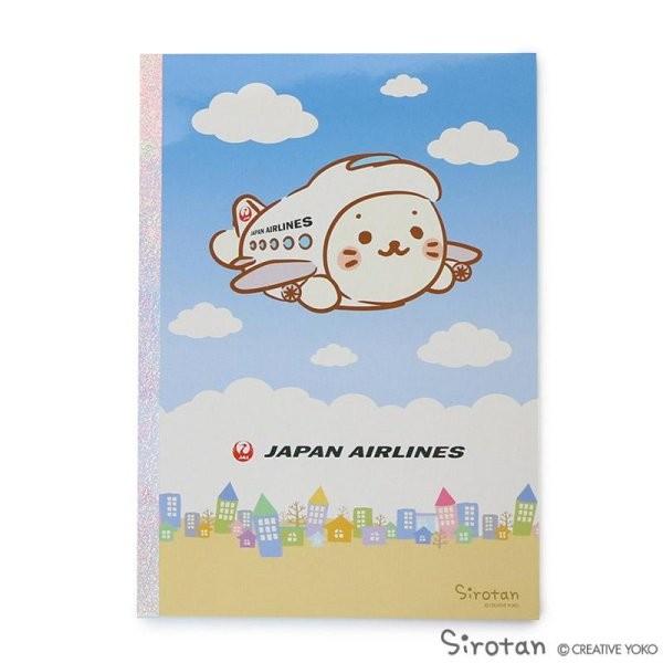 [JALオリジナル]しろたん B5罫線ノート 飛行機 赤 生活雑貨 飛行機 空