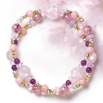 桜霞 宝石のブレスレット