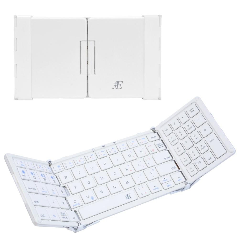 [3E]テンキー付き3つ折りモバイルキーボード ホワイト