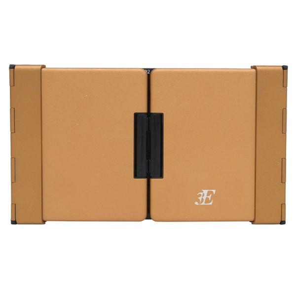 [3E]テンキー付き3つ折りモバイルキーボード ブラウン