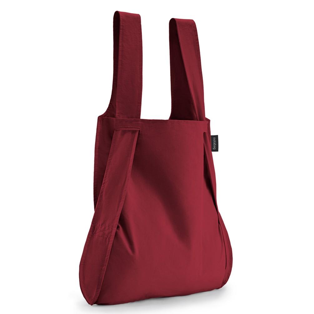 [notabag]バッグ&バックパック グレー/ミント トートバッグ ワインレッド