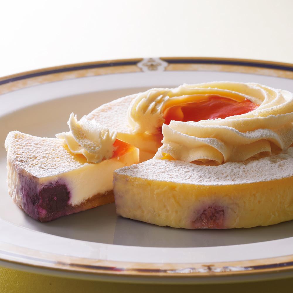 [御献上カスティーラ]2種類のチーズケーキセット