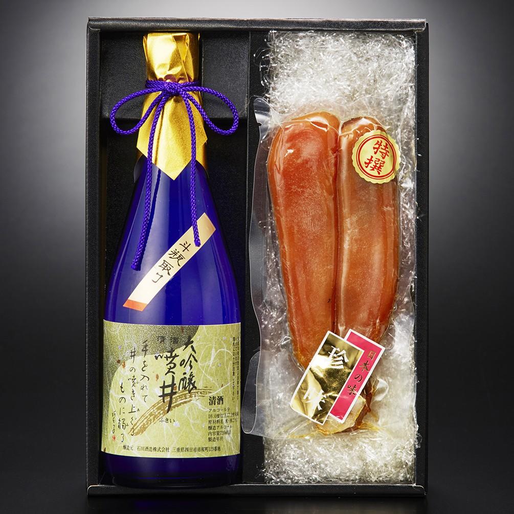 [石川酒造]噴井 大吟醸斗瓶取り からすみセット