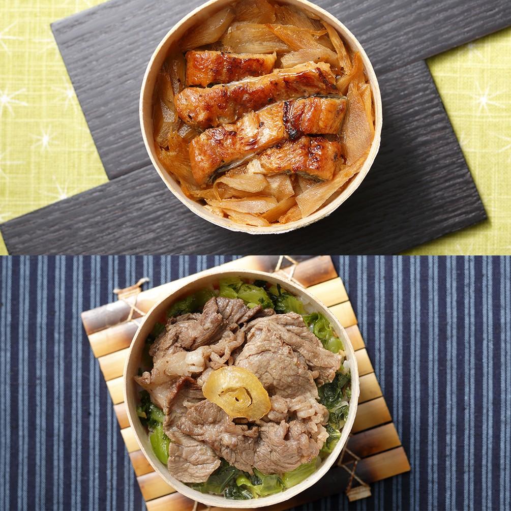 〈銀座割烹里仙〉 監修 鰻と和牛のわっぱ飯