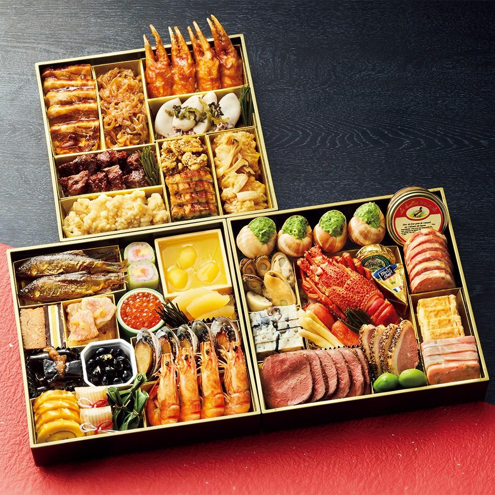 [川崎日航ホテル] 和食・洋食・中華のおせち三段重