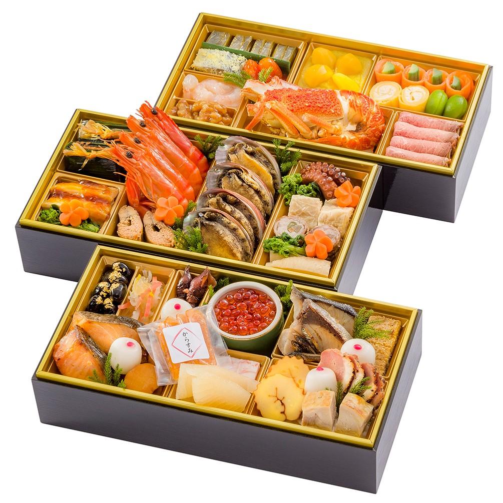 [五万石千里山荘]おせち料理和三段重