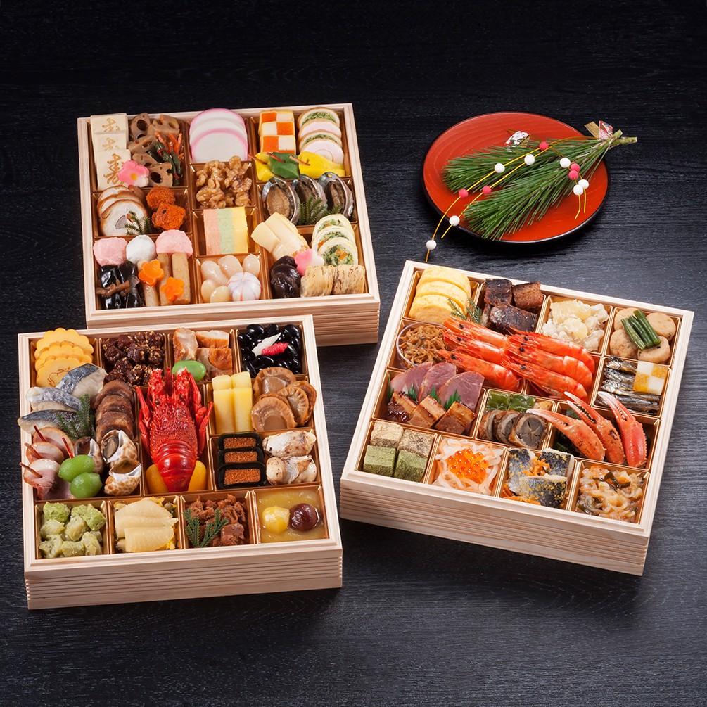 [京都しょうざん]和風おせち料理「紙屋川」三段重