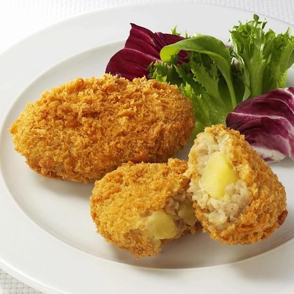 【食品ロス・食べて応援】さくら豚とサッシーのコロッケ大容量24パックセット(油調済)