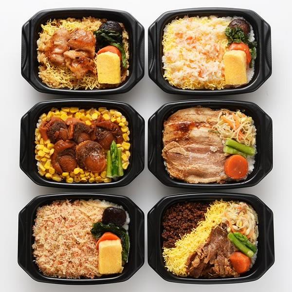 【食品ロス・食べて応援】新千歳空港発 冷凍空弁(そらべん)セット(6種)