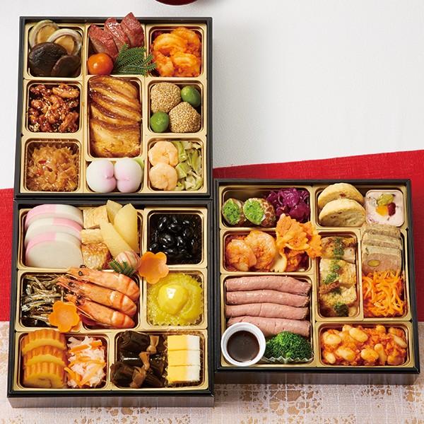 [京都 美先・ポルトファーロ・銀座 花蝶]和洋中三段重「饗宴」