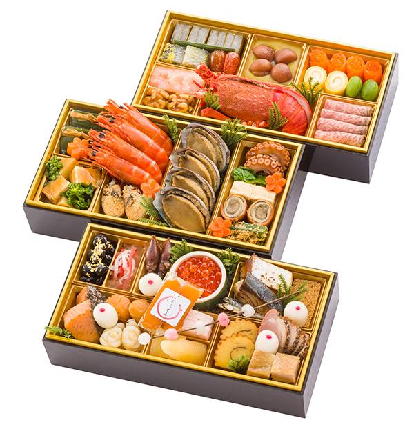 [千里山荘]おせち料理和三段重