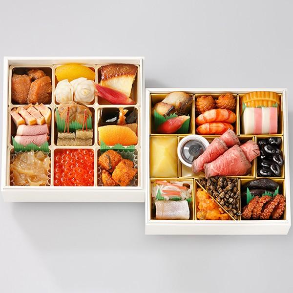 [日本料理なだ万]冷凍おせち二段「正月万菜(しょうがつまんざい)」