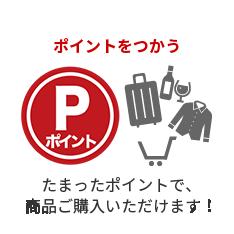 ポイントを使う たまったポイントで、商品購入や差額補填できる!