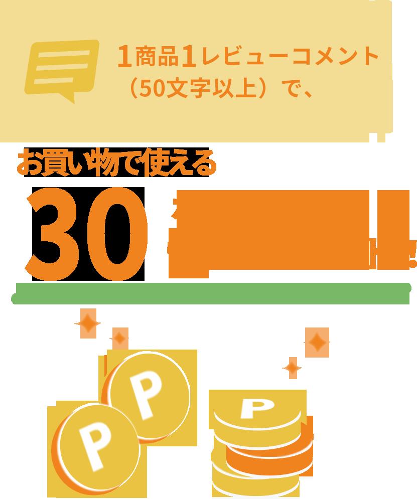 30ポイントプレゼント